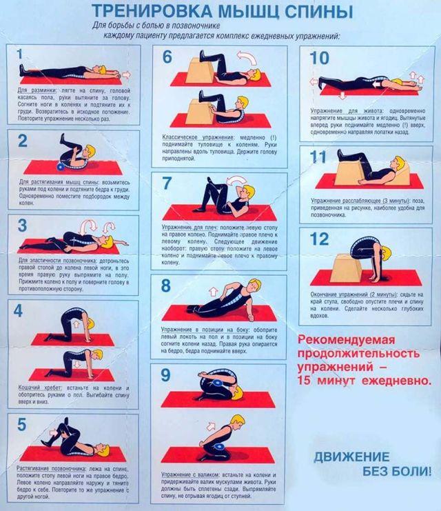 Упражнения при грыже поясничного отдела позвоночника: комплексы при поясничной грыже (видео)
